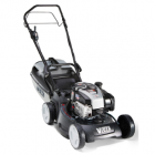 A self propelled mower available with mulching options